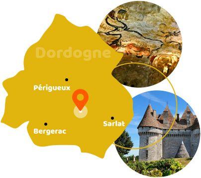 Carte Camping Dordogne